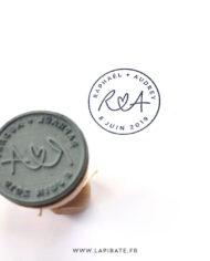Tampon avec logo mariage