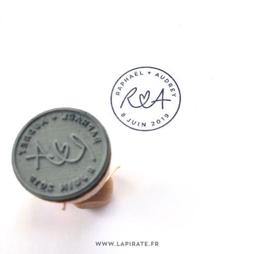 Tampon logo pour votre mariage, fabrication de tampon à partir de votre dessin, logo de mariage - La Pirate