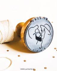 Tampon logo en bois – La Pirate