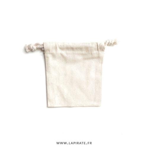 Pochons à dragées coton écru/naturel avec cordon de serrage à personnaliser pour emballer vos cadeaux invités - La Pirate