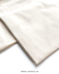 Pochons à dragées coton écru/naturel, détail fibre