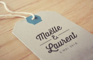 Tampon de mariage Elegant Etiquette