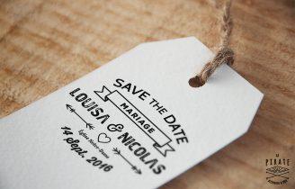 Tampon Mariage en bois personnalise avec prenoms Save the Date Etiquette