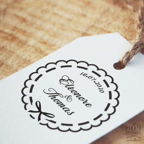 Tampon Mariage Shabby Noeud Papillon - La Pirate