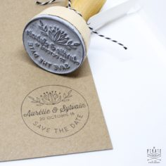 Tampon Mariage Rond Shabby Folk – La Pirate