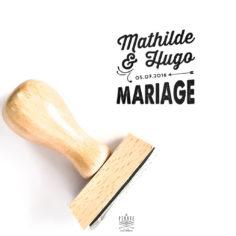 Tampon Mariage Vintage prénoms mariés et date mariage