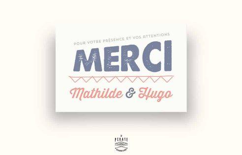 Carton de remerciement Mariage personnalisé Tête de cerf Vintage