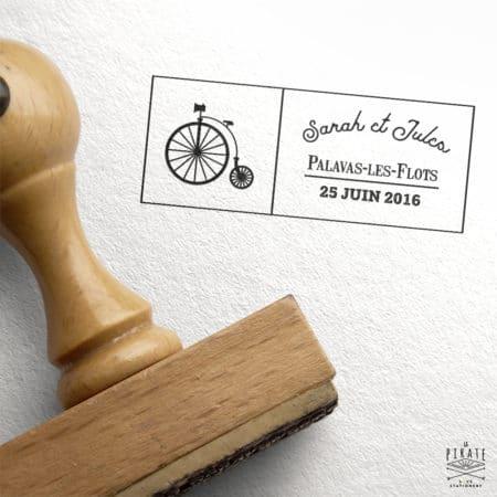 Tampon Mariage Personnalisé Grand-bi Industriel Vintage