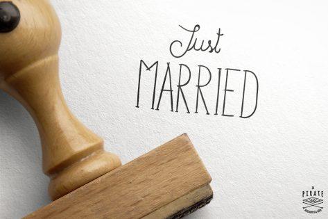 Tampon Mariage Vintage Just Married
