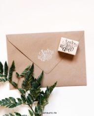Tampon save the date en bois, végétal et naturel