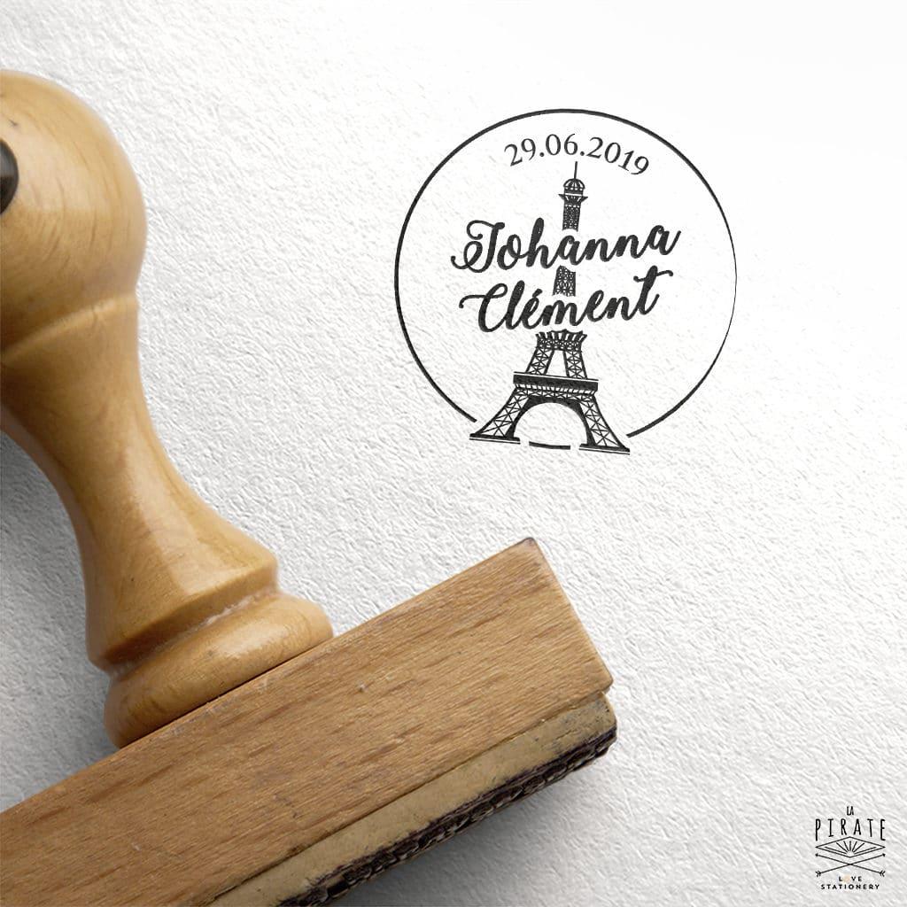 Tampon Mariage Tour Eiffel Paris, Vintage - La Pirate