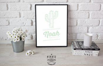Affiche Cactus personnalisée