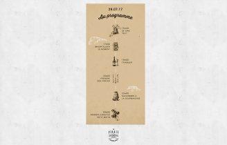 Faire-Part de Mariage Kraft & Nuage Verso
