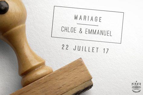 Tampon Mariage Personnalisé Graphique
