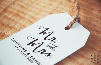Tampon Mariage Mr And Mrs – Personnalisé avec prénoms et date du Mariage