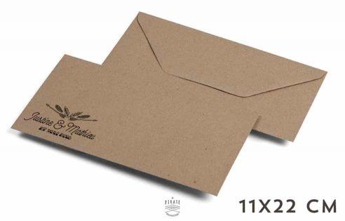 Enveloppes Kraft 11x22 cm - Enveloppes Kraft personnalisées 11x22 cm - Papier recyclé