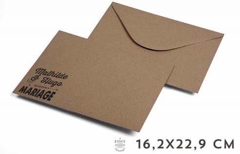 Enveloppes Kraft 16,2x22,9 cm - Enveloppes Kraft personnalisées 16,2x22,9 cm - Papier recyclé