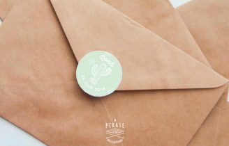Etiquettes Naissance Personnalisées Cactus Enveloppe