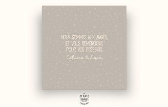 Faire-Part de Naissance Garçon – Petit Renard – Taupe Verso