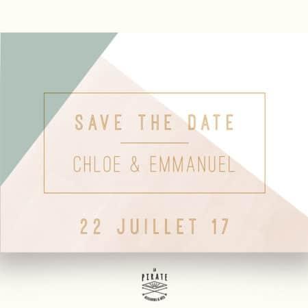 Save The Date Mariage personnalisé Aquarelle Graphique