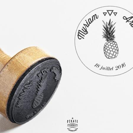 Tampon Mariage Ananas Personnalisé