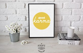 Affiche déco good karma Jane