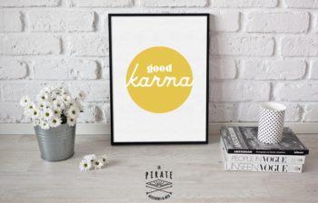 Affiche déco good karma Jaune