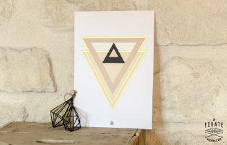 Affiche déco scandinave géométrique – Affiche A3 «Gold Geometry»