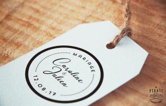 Tampon Mariage Macaron, Chic et Romantique