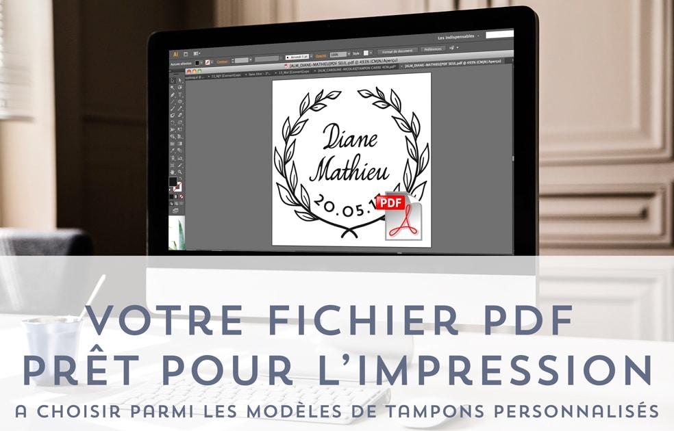 Votre logo de mariage, fichier PDF HD