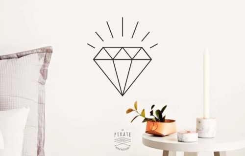 Stickers Diamant Noir- Décoration Scandinave