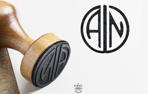 Tampon Mariage Monogramme, Initiales style Art Déco