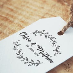 Tampon Mariage Calligraphie, Couronne d'Olivier – La Pirate