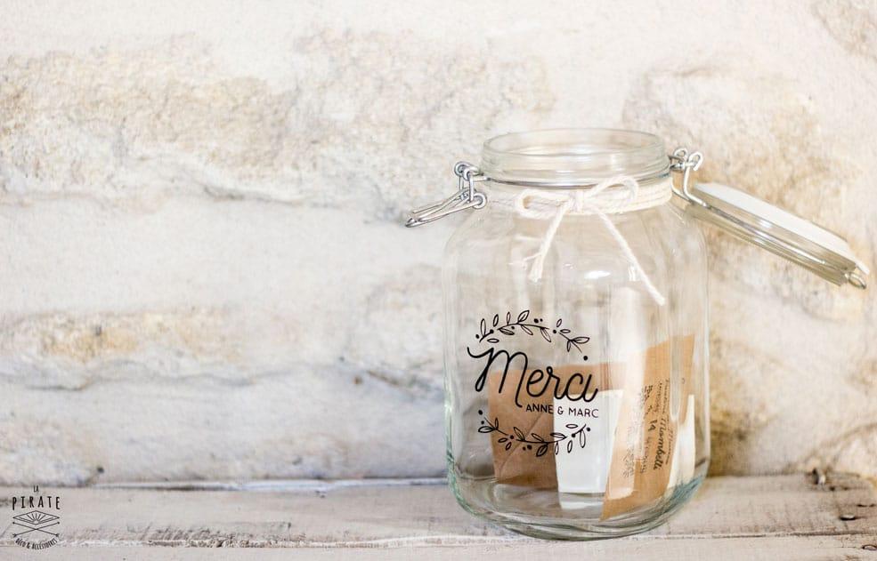 stickers merci urne de mariage champtre - Urne Mariage Champetre