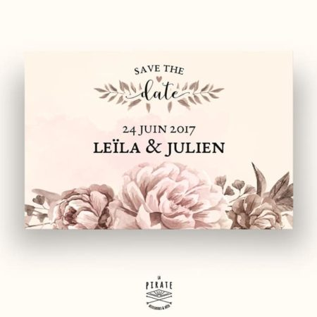 Save The Date Mariage Romance Aquarelle