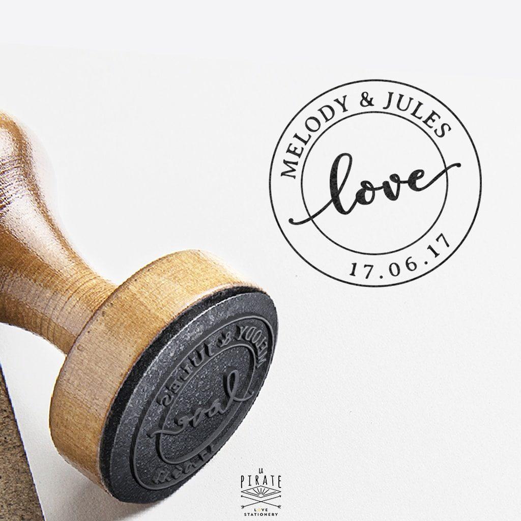 "Tampon mariage vintage ""Love"" - La Pirate"