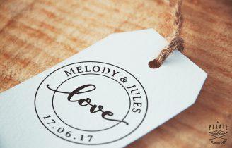 Tampon mariage vintage «Love» – La Pirate