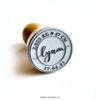Tampon Naissance Timbre d'amour, cachet postal personnalisé - La Pirate