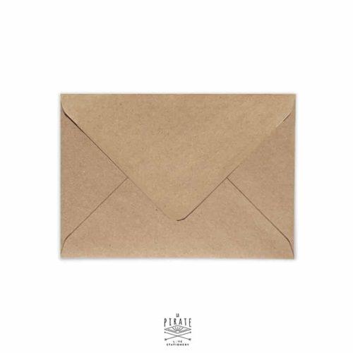Enveloppes kraft recyclé à rabat gommé pointu, plusieurs format au choix