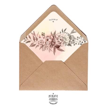 Enveloppes décorées fleuries - Romance Aquarelle