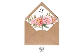 Enveloppes décorées composition florale - La Pirate