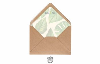Enveloppes décorées Feuilles de bananier - Palmista