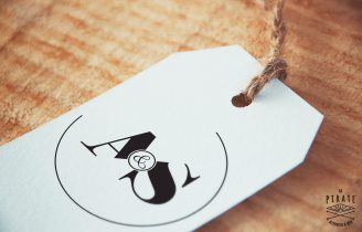 Tampon Mariage Monogramme design, Initiales