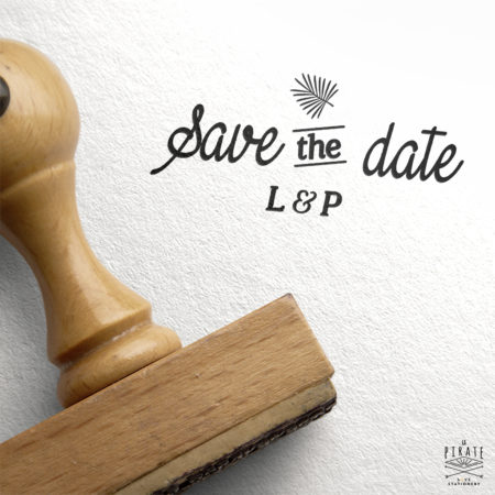 Tampon Save The Date Exotique - Collection Palmista
