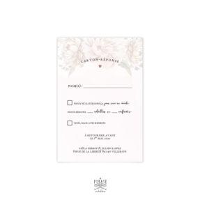 RSVP mariage Aquarelle et fleurs, personnalisé pour votre mariage vintage et romantique - La Pirate
