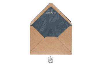 Enveloppes decorees Midnight Palm