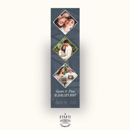 Save The Date Mariage Exotique-Photomaton - Collection Midnight Palm