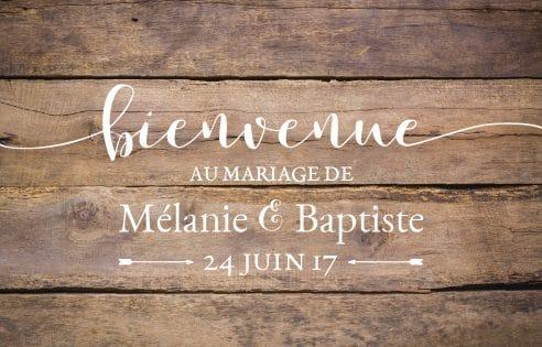 Stickers Bienvenue au mariage - vintage
