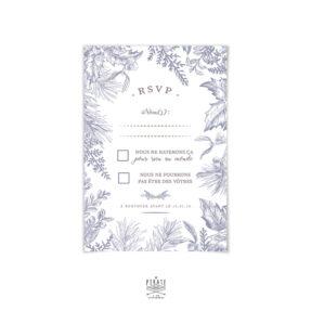RSVP, Carton-réponse mariage hiver- Winter Romance
