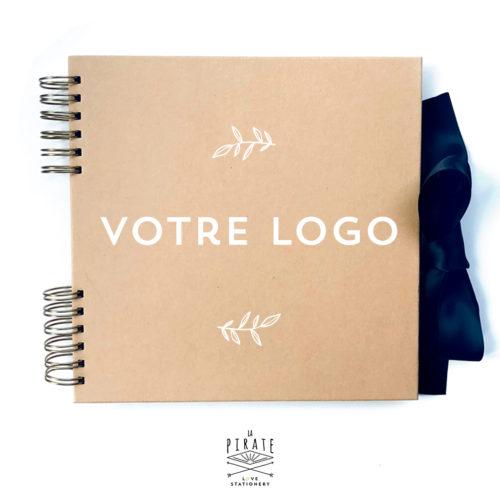 Livre d'or Kraft à personnaliser avec votre logo PDF - La Pirate